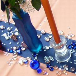 Tischdeko mit Glaskugeln